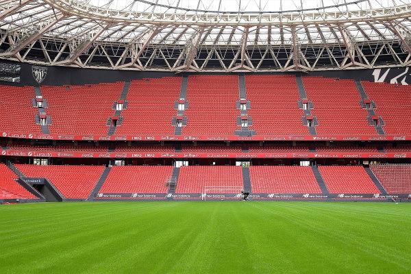 Een blik op het Baskische voetbalstadion San Mamés