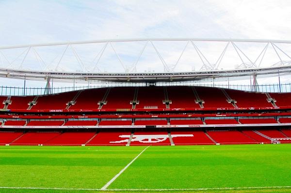 Een zicht op het Emirates Stadium
